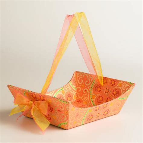 Handmade Gifts With Paper - small nomad tiles handmade paper gift basket world