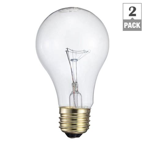 Light Bulb Brightness by Philips 60 Watt Incandescent A19 Garage Door Light Bulb 2