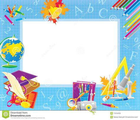 school border for your photo and text stock illustration