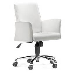 White Office Desk Chairs Zuo Modern Metro Office Chair White At Hayneedle