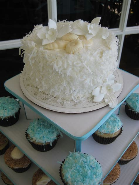 beach themed cupcake tower beach themed cupcake tower pin flickr