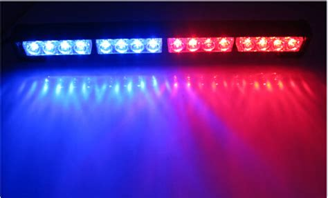 red blue police lights new 16w hight power strobe light fireman flashing police