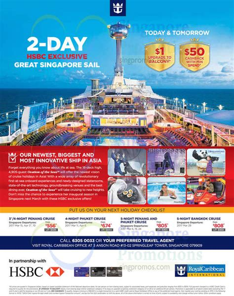 Royal Caribbean Cruises Special Deals for HSBC Credit
