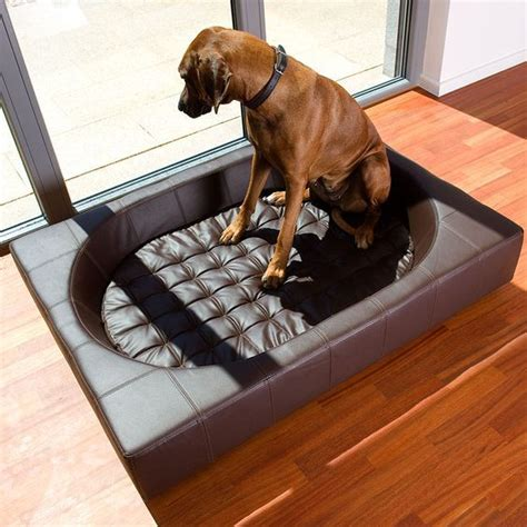 leather dog beds faux leather dog bed ideas spiffy pet products
