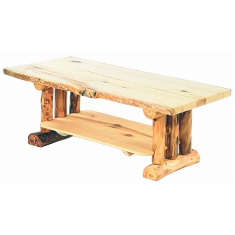 Rustic Log Coffee Table Amish Quot Glacier Quot Pine Log Coffee Table