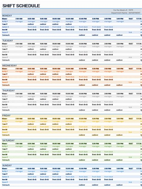 excel template shift schedule weekly employee shift schedule excel template