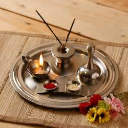 Designing Rooms Online - vibrant home stainless steel puja thali set of five fabfurnish com diwali decor pinterest