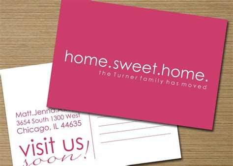 moving home cards template free 14 best moving announcements new address postcard