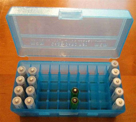 aa battery storage container bulk storage of aa and aaa batteries using an ammo box