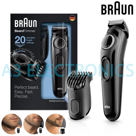 Braun Cordless Hair Dryer Uk braun beard hair trimmer rechargeable cordless with adjustable length bt3020 buy from