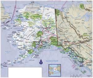 Detailed Map Of Alaska by Large Detailed Road Map Of Alaska With All Cities And