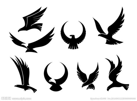 designing silhouettes of angels demo 老鹰logo图标商标矢量图 其他图标 标志图标 矢量图库 昵图网nipic com