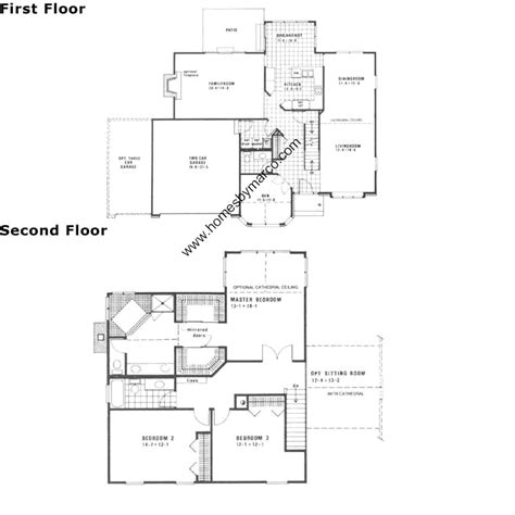 canterbury floor plan canterbury model in the montgomery crossings subdivision in montgomery illinois homes by marco