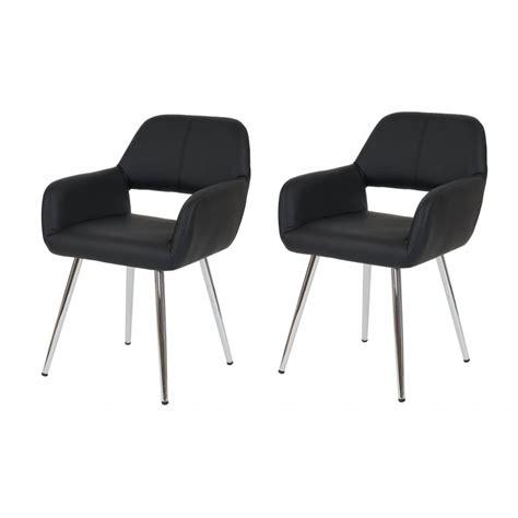 agréable Chaise Fauteuil Pour Salle A Manger #3: lot-de-2-chaises-de-salle-a-manger-fauteuil-retro-similicuir-noir-cds04080.jpg
