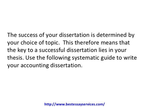 dissertation accounting how to write an a accounting dissertation