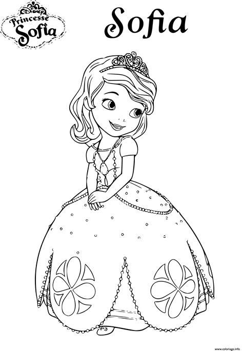 Coloriage Princesse Sofia Disney Jecolorie Com Livre Coloriage Princesses DisneyL
