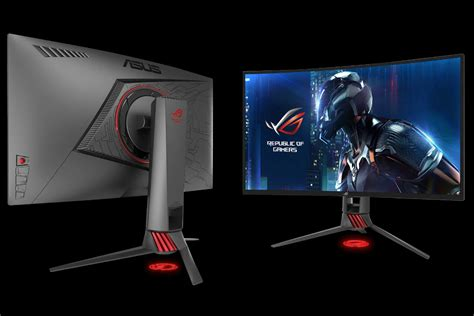 Asus Rog Pg27vq Led 27 asus debuts two gaming monitors including one that is curved and one with hdr