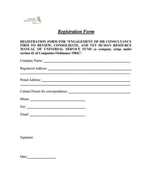 sle registration forms template 32 sle free registration forms 28 images 32 sle free