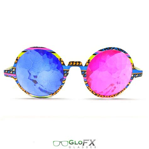 Tribal Magenta glofx tribal 3d kaleidoscope glasses sapphire magenta