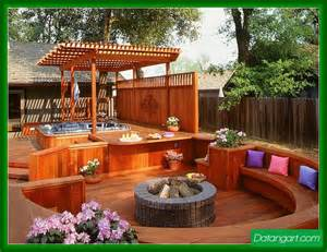 backyard ideas with tub backyard deck with tub design idea home landscaping