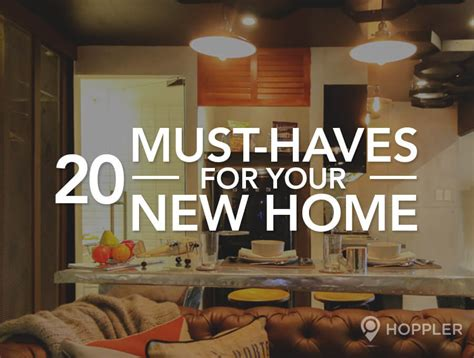 20 must haves for your new home