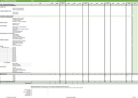 marketing budget template plan your marketing budget