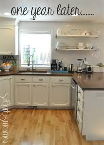 Update White Kitchen Cabinets by Suburbs Mama Kitchen Update One Year Later White