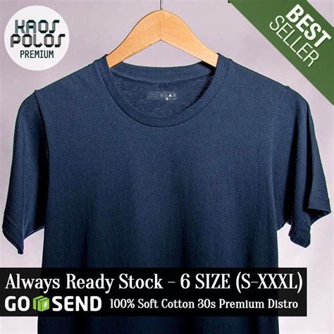 Kaos Soft Cotton Premium kpp kaos polos premium biru dongker soft cotton combed