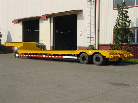 low bed trailer low flat bed semi trailer