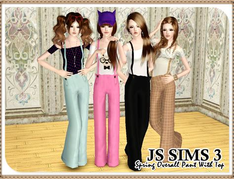 April Overall Top js sims 3 overall pant with top
