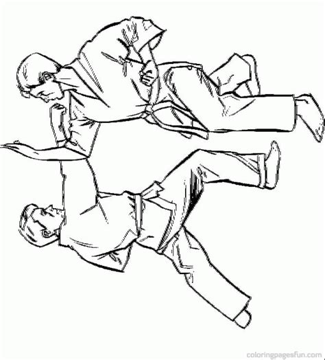 printable coloring pages karate karate pictures for kids coloring home