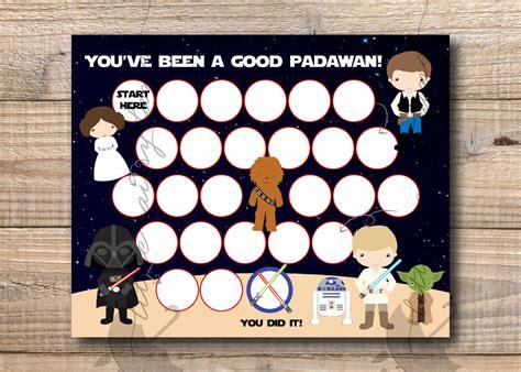 printable star wars reward chart reward chart star wars reward chart printable instant