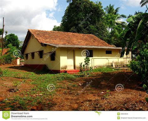 Indian Cottage by Traditional Indian Cottage Royalty Free Stock Photo