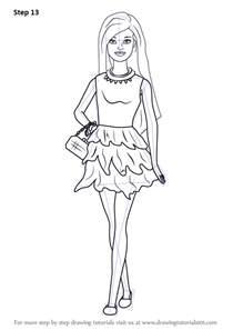 step step draw barbie doll skirt drawingtutorials101