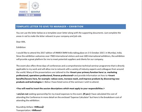 Justification Letter For Course Inmex Smm India Justification Toolkit
