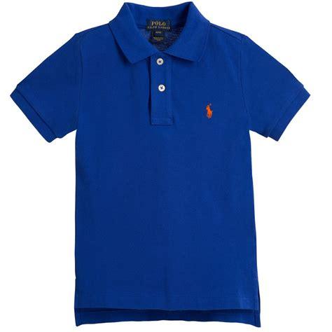 boys blue polo ralph boys blue polo shirt childrensalon