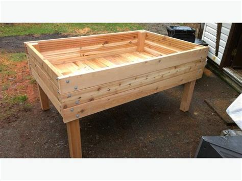 Above Ground Planter Beds by Heavy Duty Above Ground Raised Bed Cedar Planters 3 X5