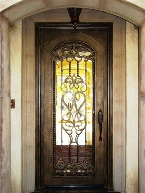Tuscan Front Doors Single Wrought Iron Tuscan Doors Wrought Iron Doors Monterrey Mexico Mx Home Inspirations