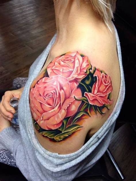 tr st rose tattoos 69 graceful roses shoulder tattoos