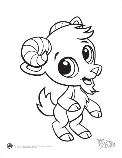 Cute Goat Coloring Pages | learning friends goat baby animal coloring printable from