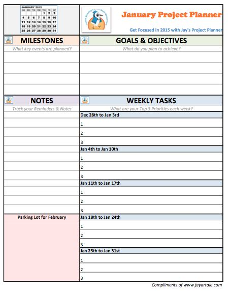 free project planner template free january project planner template artale