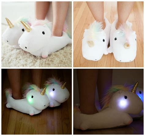 cute house shoes unicorn light up slippers be a fun mum