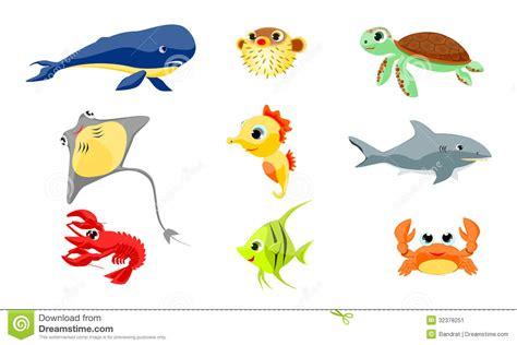 imagenes de animales que viven en el mar animales de mar stock de ilustraci 243 n ilustraci 243 n de
