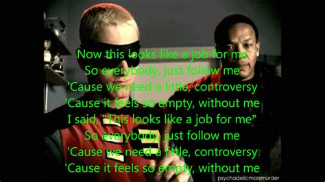 Without Me without me by eminem lyrics