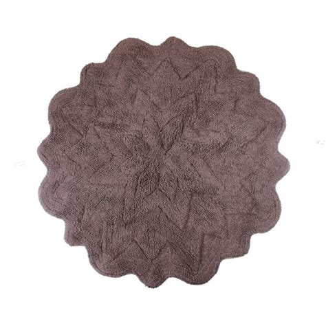 Circular Bathroom Rugs Sherry Tufted Petals Cotton Bath Rug
