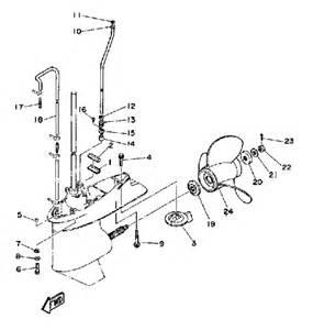 yamaha outboard motors parts 1992 yamaha lower drive 2 parts for 90 hp 90tlrq outboard