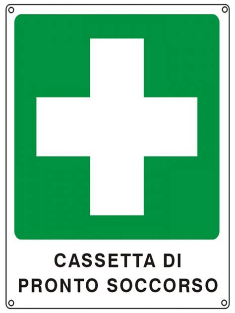 cassette di pronto soccorso normativa cartello segnaletico in alluminio cassetta di pronto soccorso