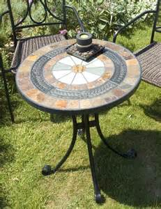 Mosaic Patio Table Europa Villena Mosaic Bistro Table