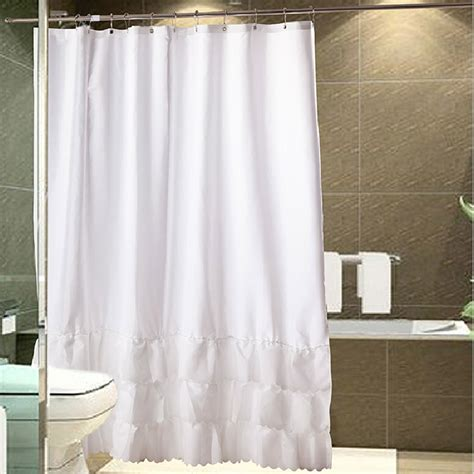 curtains with ruffles ruffled shower curtain
