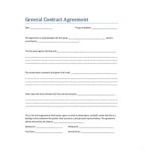 contract template free 10 contract agreement templates free sle exle